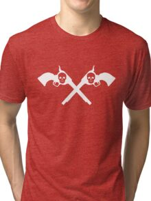 DEADLY TOOLS CROSSBONES Tri-blend T-Shirt