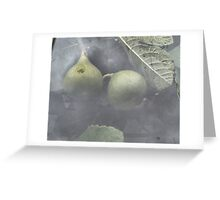 Figs through the greenhouse window Greeting Card