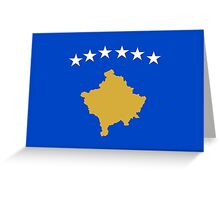 flag of Kosovo Greeting Card