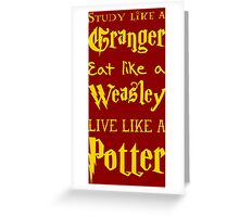 Live Like a Potter Greeting Card