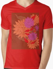 Colorful Flower Ornament 2 Mens V-Neck T-Shirt