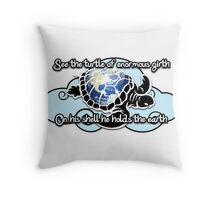 Turtle Beam Rhyme 2 Throw Pillow