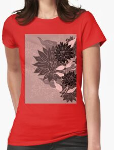 Colorful Flower Ornament 4 Womens Fitted T-Shirt