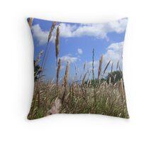 Summer Field Throw Pillow