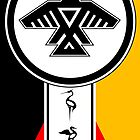 Anishinabek Dodem & Four Directions by KBelleau