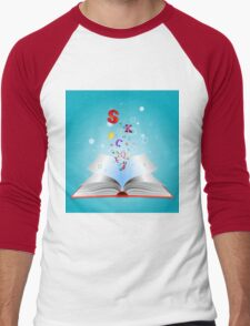 Opened book with letters T-Shirt