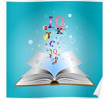 Opened book with letters 2 Poster