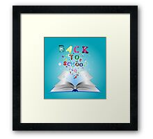 Opened book with letters 3 Framed Print