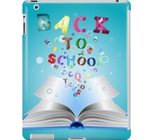Opened book with letters 3 iPad Case/Skin