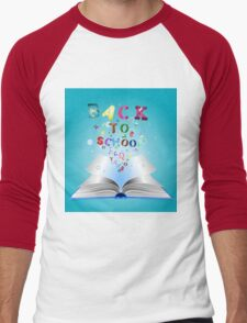 Opened book with letters 3 T-Shirt