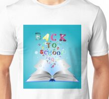 Opened book with letters 3 Unisex T-Shirt