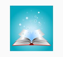 Opened book with particles Unisex T-Shirt