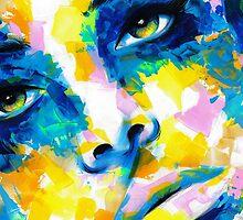 TILT Original Ink & Acrylic Painting by artxr