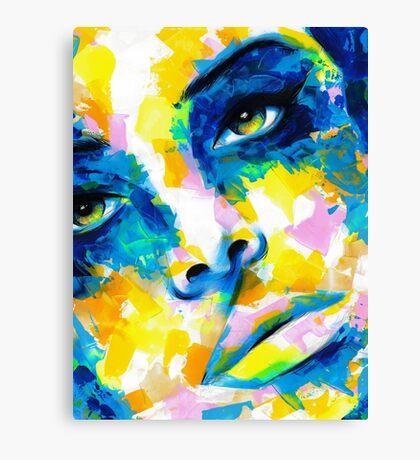 TILT Original Ink & Acrylic Painting Canvas Print
