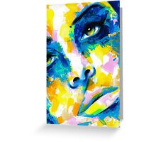 TILT Original Ink & Acrylic Painting Greeting Card