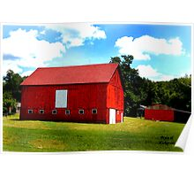 A Red Barn Poster
