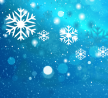 Abstract snowy background 3 Sticker