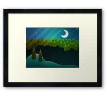 Abstract winter forest Framed Print