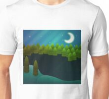 Abstract winter forest Unisex T-Shirt