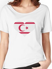 North Cyprus flag heart Women's Relaxed Fit T-Shirt