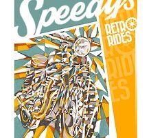 SPEEDY'S RETRO RIDES V.02 / GRAPHIC POSTER  by artxr