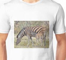 Zebra - African Wildlife - Paired up for Life Unisex T-Shirt
