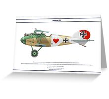 Albatros D.V Jasta 17 - 1 Greeting Card