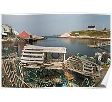 Peggy's cove through a lobster trap Poster
