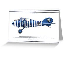 Albatros D.V Jasta 17 - 2 Greeting Card
