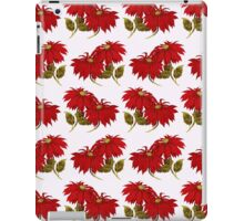 Poinsettia Flowers, Leaves - Red Green iPad Case/Skin