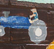 mural tractor in Ellijay by Laurkat