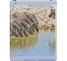 Zebra - African Wildlife - Lined up for Life iPad Case/Skin