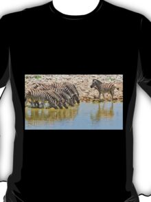 Zebra - African Wildlife - Lined up for Life T-Shirt
