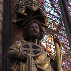 Inside St Chapelle cathedral, Paris by chord0