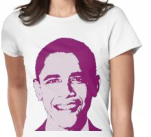 Great Graphic Barack Obama in Purple Womens Fitted T-Shirt