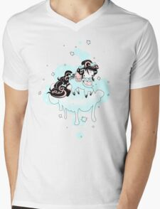 Snow flake Mens V-Neck T-Shirt