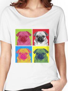 Pop Art Pug Women's Relaxed Fit T-Shirt