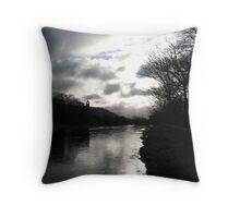Morning Walk Throw Pillow
