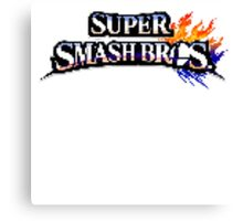 Super Smash Bros Pixel  Canvas Print