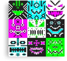 square monster pattern punk Canvas Print