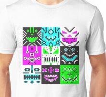 square monster pattern punk Unisex T-Shirt