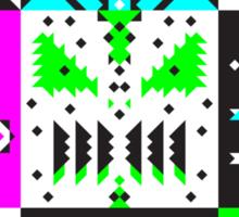 square monster pattern punk Sticker