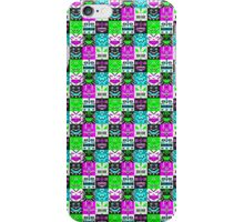 square monster pattern punk iPhone Case/Skin