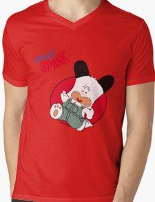 Hello Spank! Mens V-Neck T-Shirt