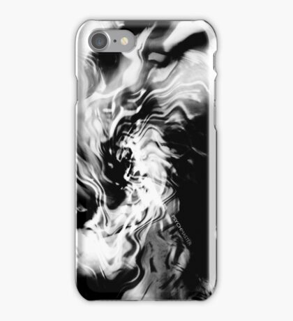 Psychmaster Helix BW iPhone Case/Skin