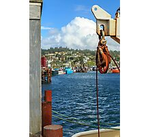 Pulley Cables And Boats Photographic Print