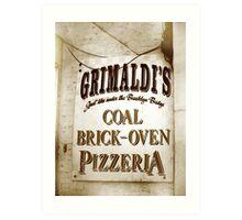 Grimaldi's Pizzeria Art Print