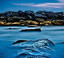 Ashbridges Bay Toronto Canada Breakwall 4 by Brian Carson