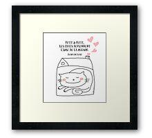 Les chats... l'âme de la maison / Cat Doodle Framed Print