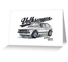 Volkswagen golf GTI Greeting Card